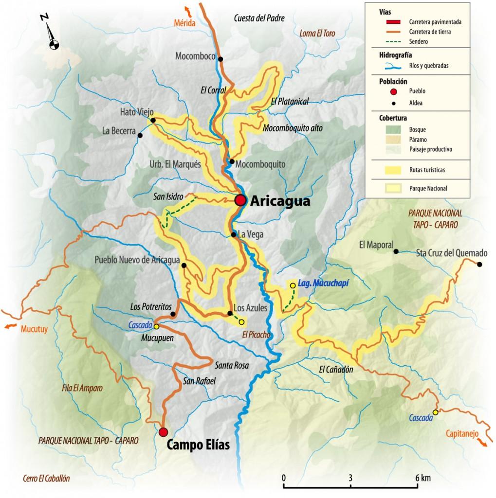 Mapa de Aricagua