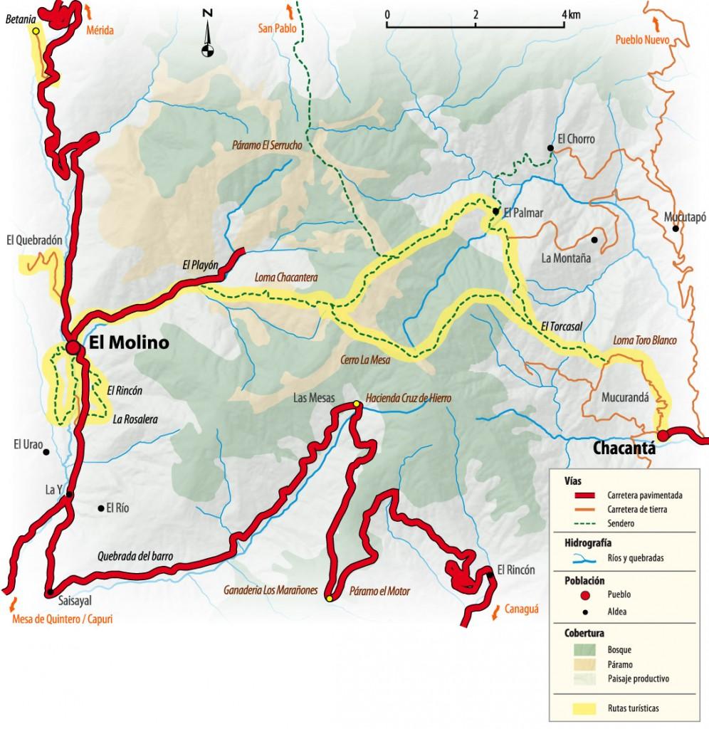Mapa de El Molino