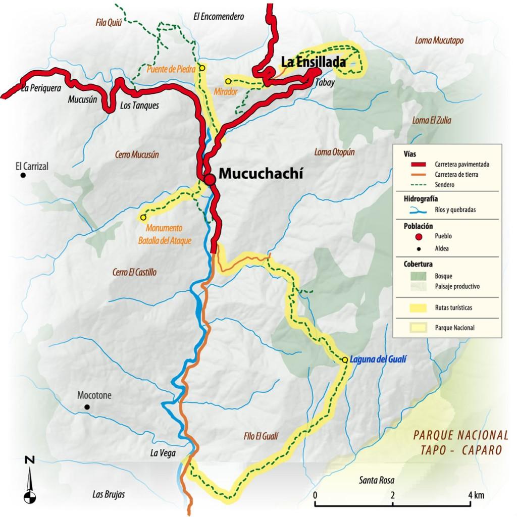Mapa de Mucuchachí