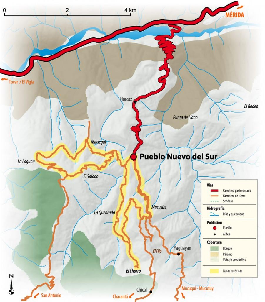 Mapa de Pueblo Nuevo