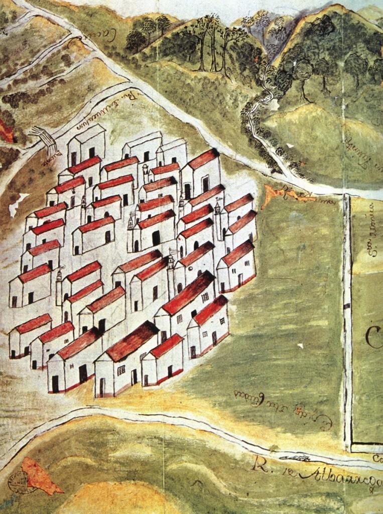 Representación de Mérida y sus campos - 1776