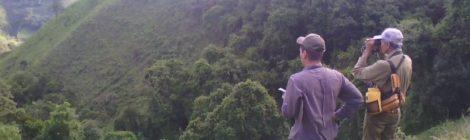 Aureliano Rivas y Jayme Bautista haciendo birding