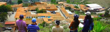 Panorámica de Pueblo Nuevo del Sur al iniciar ascenso